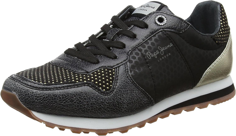 Pepe Jeans London Verona Remake, Zapatillas para Mujer, Negro (Black), 40 EU: Amazon.es: Zapatos y complementos