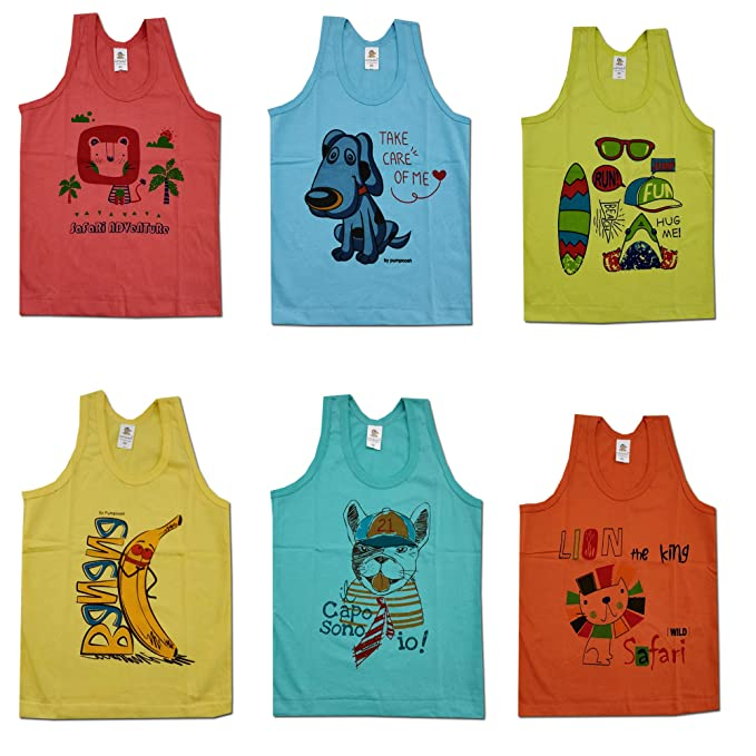 ed3ed048d Kid s Care Cotton Printed Inner Wear Baniyan Unisex Printed Sando ...