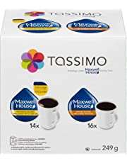 Tassimo Maxwell House Coffee Single Serve T-Discs Variety Pack, 30 T-Discs