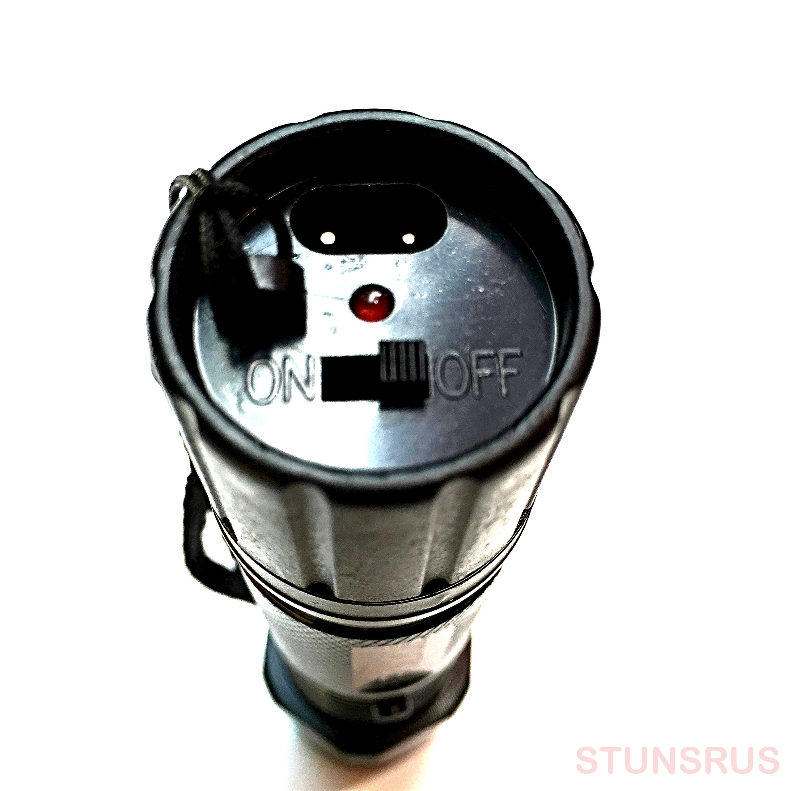 Police Style Tactical Stun Gun Triple Mode LED Flashlight & Powerful 990 MV