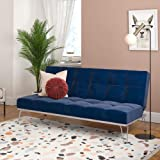Novogratz Elle, Convertible Sofa Bed and Couch Futon, Blue