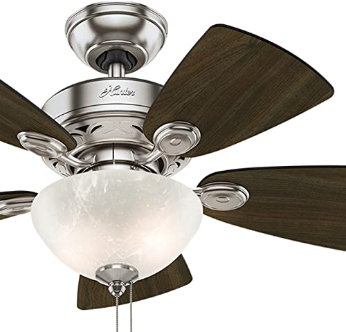 Hunter Fan 34 inch Brushed Nickel Finish Casual Ceiling Fan