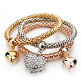 Under 499 Multi Layer-Combo Heart/Valentine Charms Stylish Bracelet. Designer Fashion Jewellery by Hot and Bold.