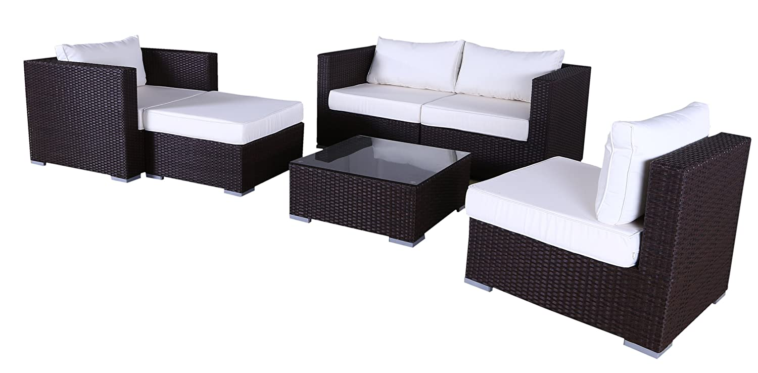 polyrattan lounge set lagos schwarz kaufen. Black Bedroom Furniture Sets. Home Design Ideas