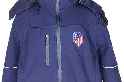 Atlético de Madrid Cazadora Infantil con Capucha Azul Marino ...
