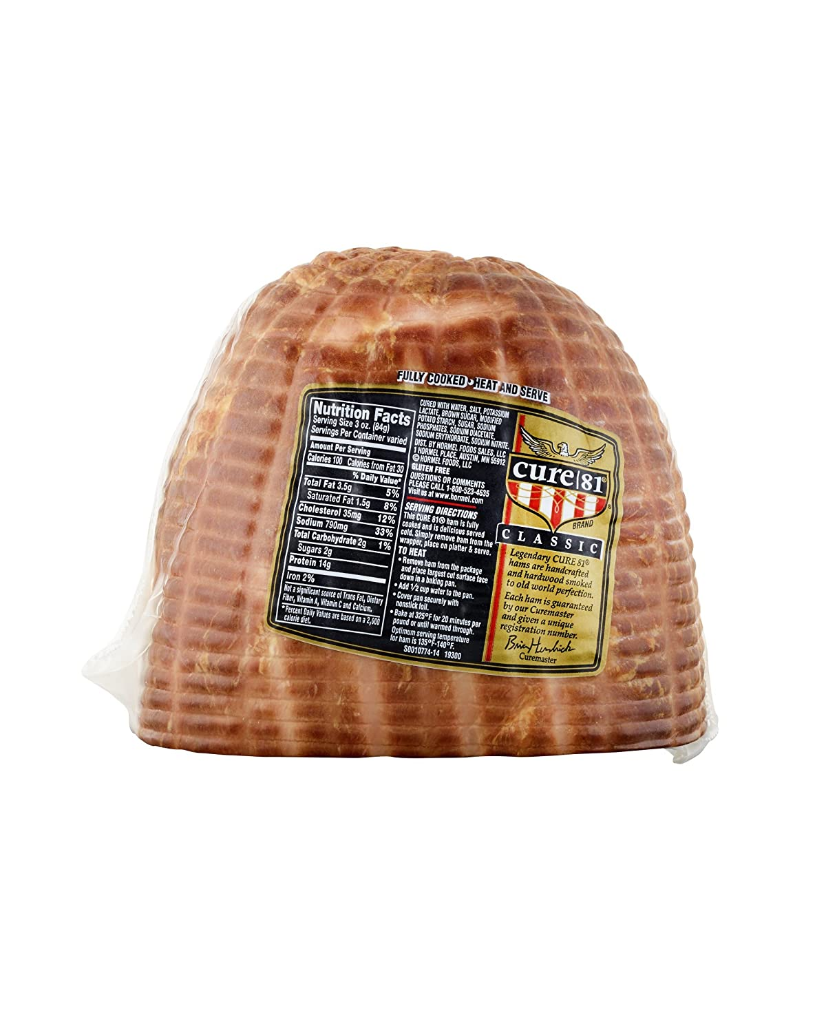 Bread ready® ham, smoked, water added, 67 oz slices, 6/2 lb.