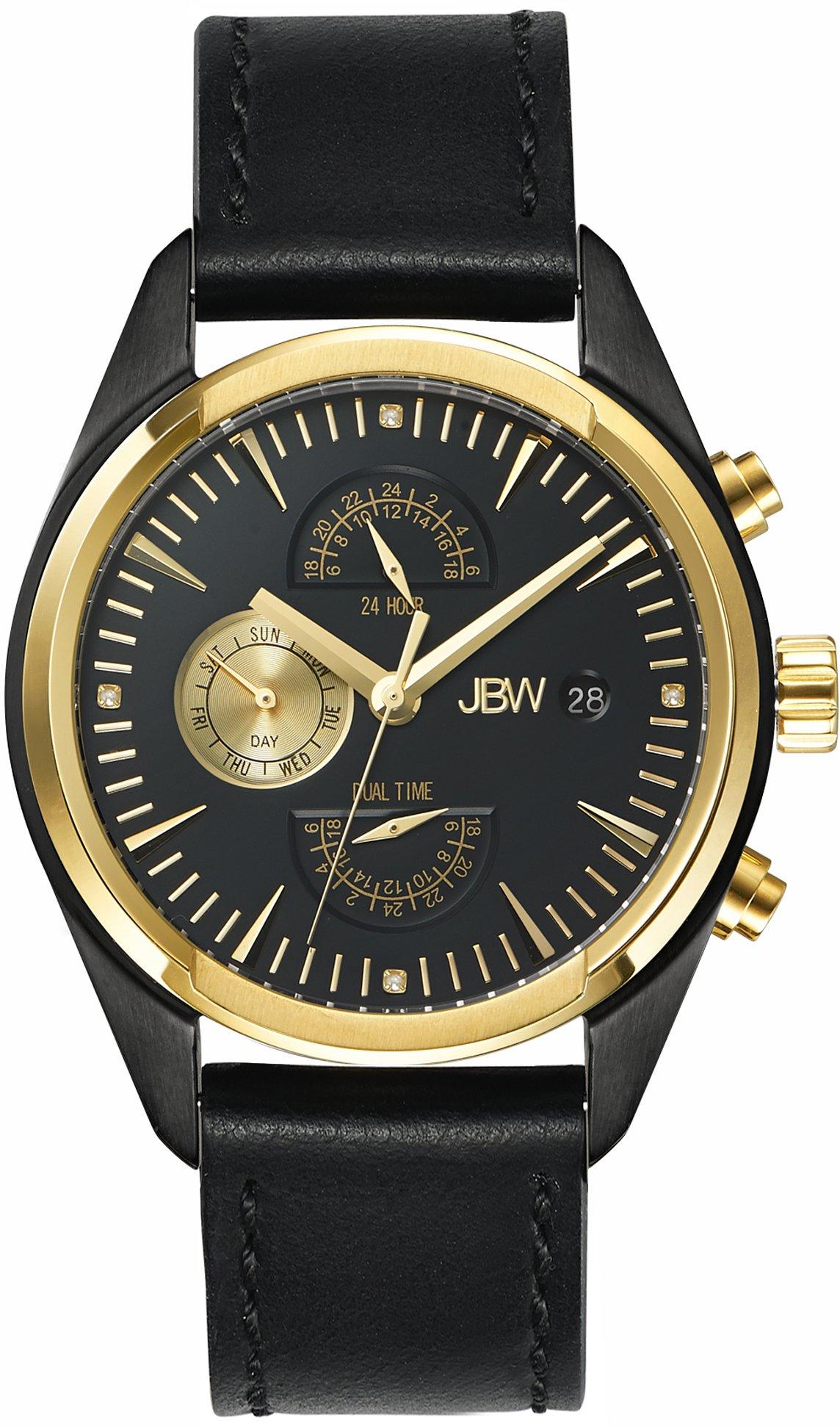 Jbw Men's J6300C The Woodall Analog Display Swiss Quartz Black Watch 8