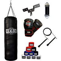 EXCALIBUR Boxset PRO 10oz. mit Boxsack, Bandagen, Springseil, Deckenhaken und Dämpfungsfeder