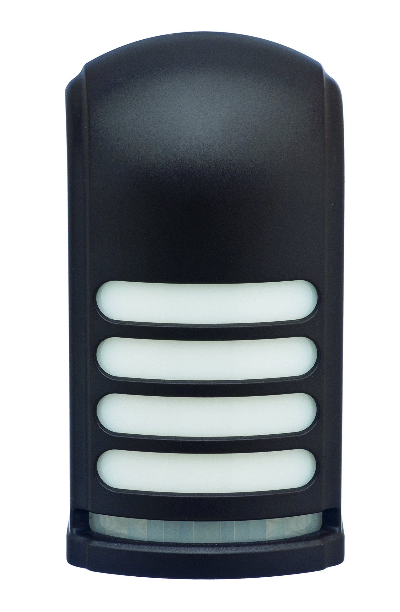Battery Operated Motion Activated LED Deck and Stair Light, Bronze - Decorative battery light provides accent lighting all night long and brightens with motion to illuminate your deck Custom designed motion sensor covers 160 digress by 30' Choose between maximum light output when motion is detected or a power saving level to extend battery life - patio, outdoor-lights, outdoor-decor - 81Lo%2Bma0gJL -