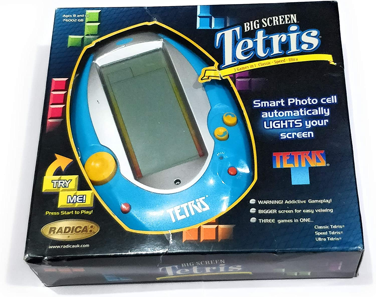 Handheld Lighted Big Screen Tetris Amazon Co Uk Toys Games