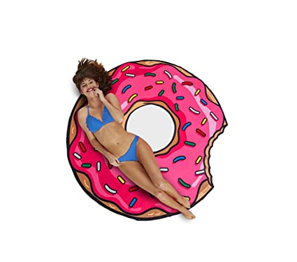 Amazon.com  BigMouth Inc. Gigantic Pink Donut Beach Blanket, 5  Wide ... 9b454feeb6