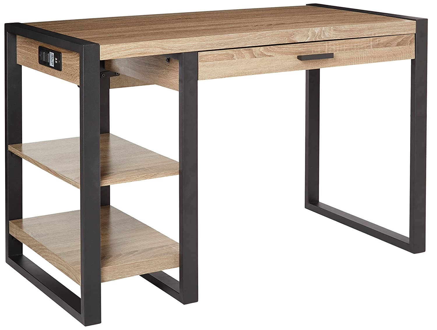 Computer table furniture - Amazon Com We Furniture 48 Industrial Wood Storage Computer Desk Driftwood Kitchen Dining