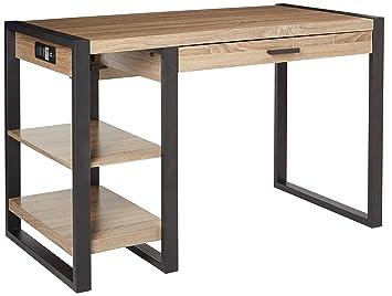 we furniture 48 industrial wood storage computer desk
