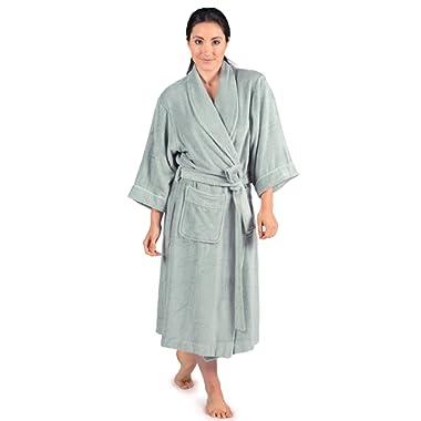 Women's Luxury Terry Cloth Bathrobe - Bamboo Viscose Robe by Texere (Ecovaganza)