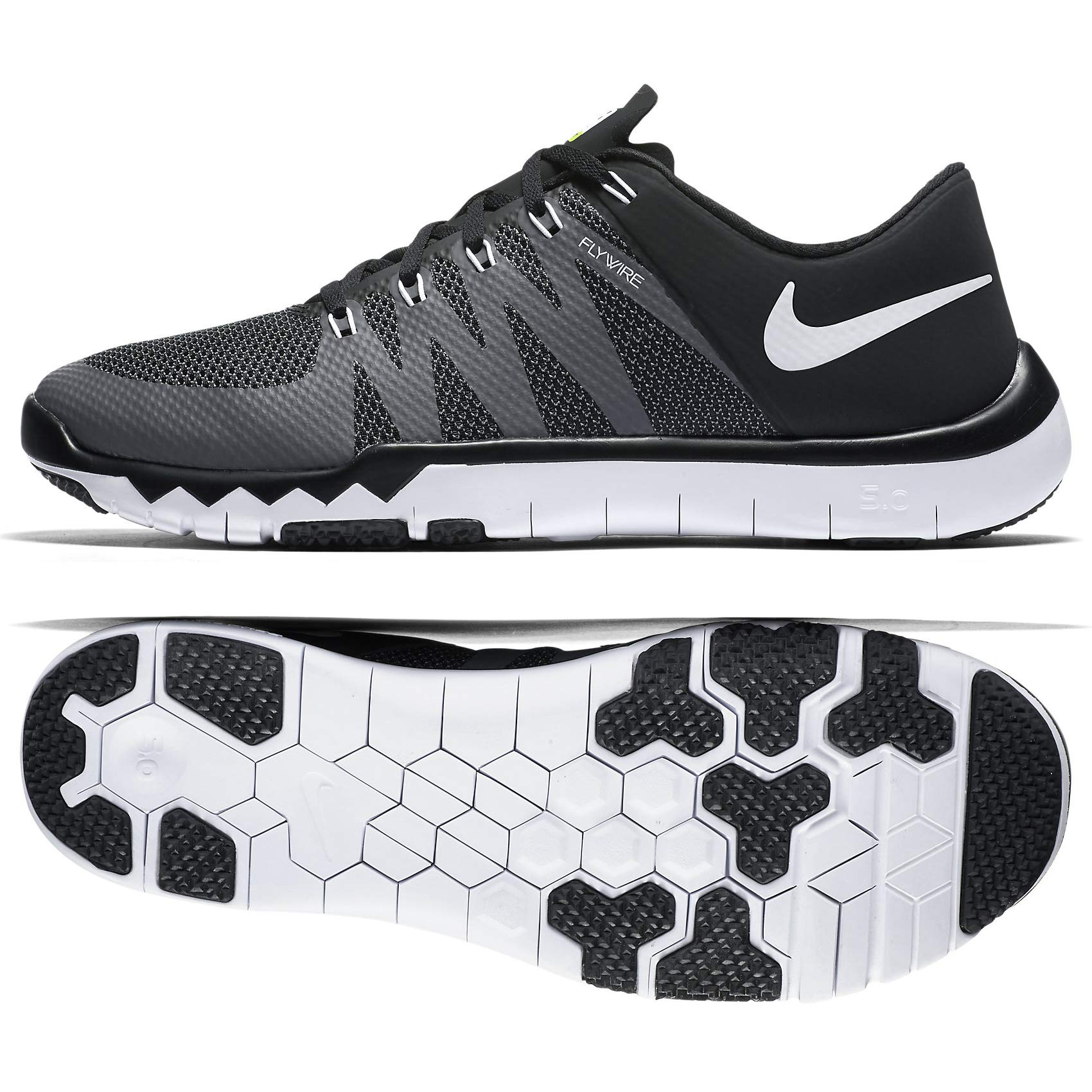b4313a101bd66 Galleon - NIKE Men s Free Trainer 5.0 Black Dark Grey Volt White 719922-010  (Size  12)