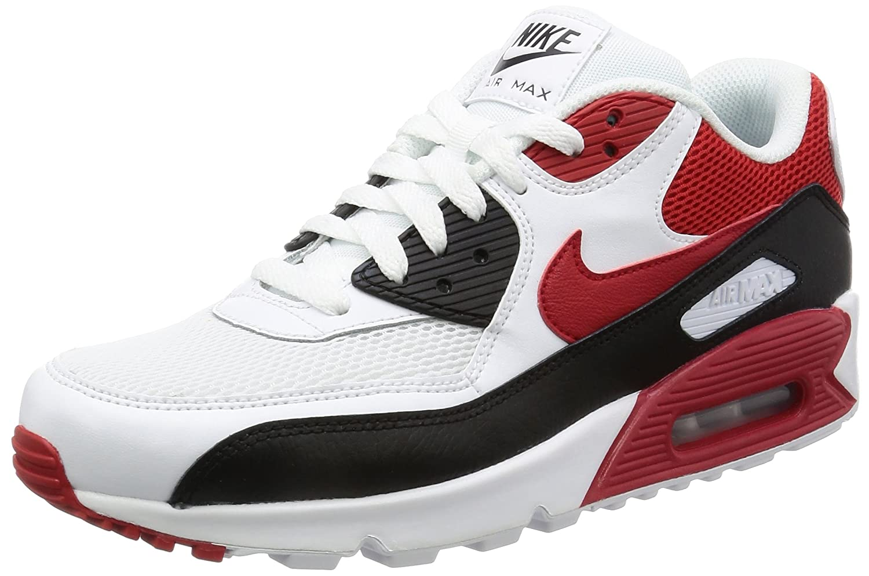 Nike Air Max 90 Essential 537384 129  42 EU|Wei?/Rot/Schwarz