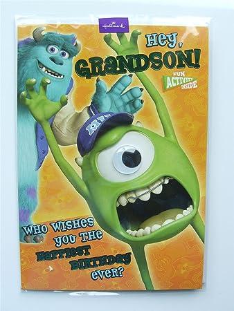 Disney Monsters Inc Grandson Birthday Card By Hallmark Amazon