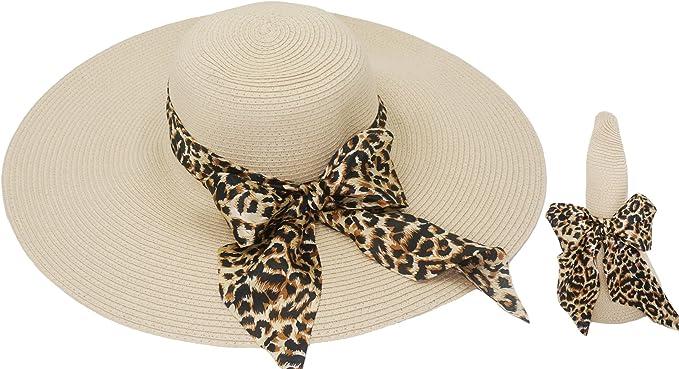 Tacobear Pamela Mujer Verano Sombrero Plegable Sombrero de Playa ala Ancha Sombrero de Sol Gorro de Paja Viaje Vacaciones Protecci/ón UV para Mujer