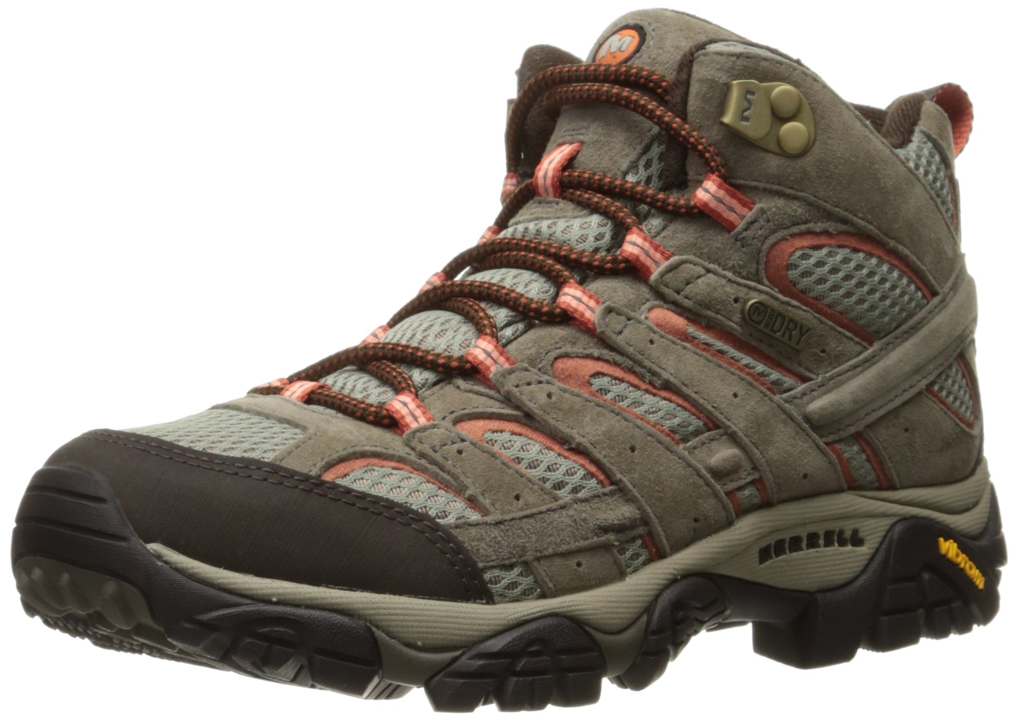 Merrell Women's Moab 2 Mid Waterproof Hiking Boot, Bungee Cord, 8 W US