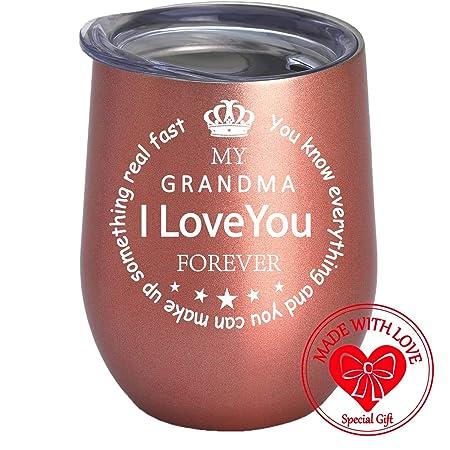 Copa de vino para regalo de cumpleaños para abuela, regalo ...