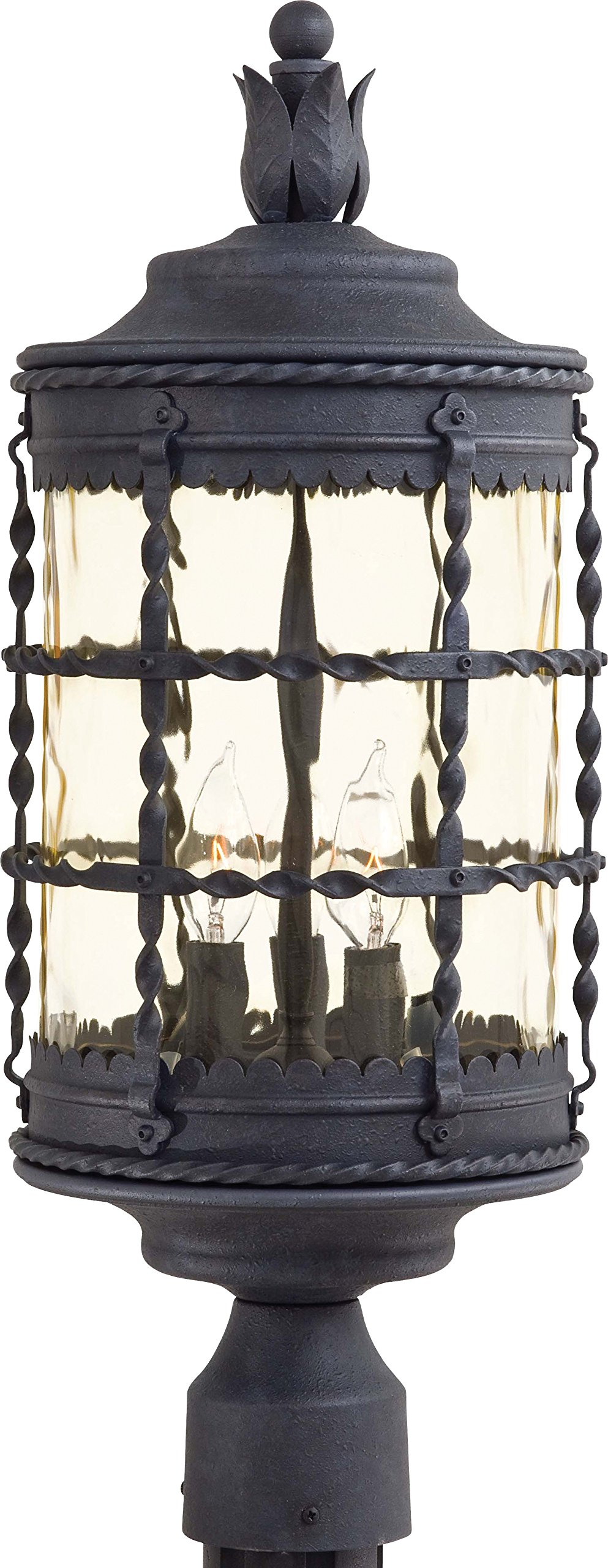 Minka Lavery Outdoor Post Lights 8885-A39, Mallorca Exterior Lighting Fixture, 120 Watts, Iron