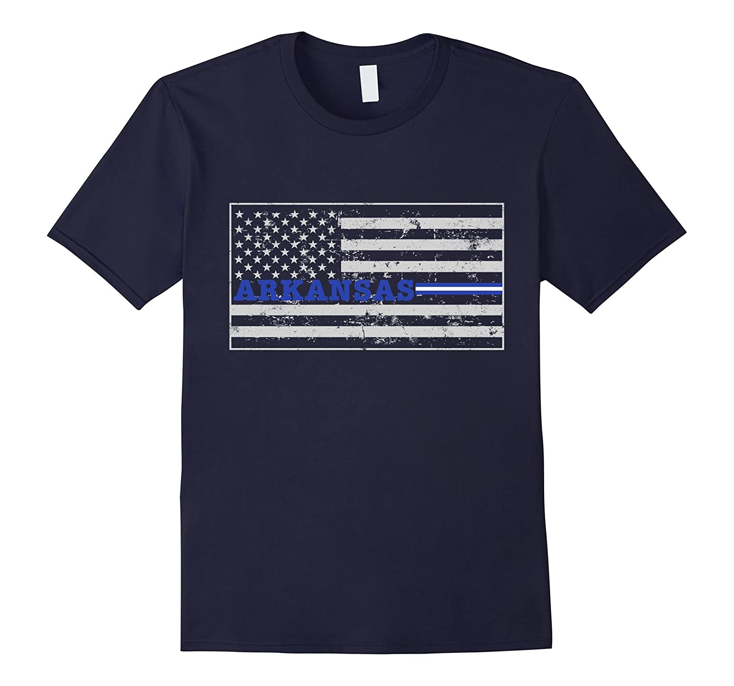 Arkansas Paramedic EMT Thin White Line Flag Shirt-TD