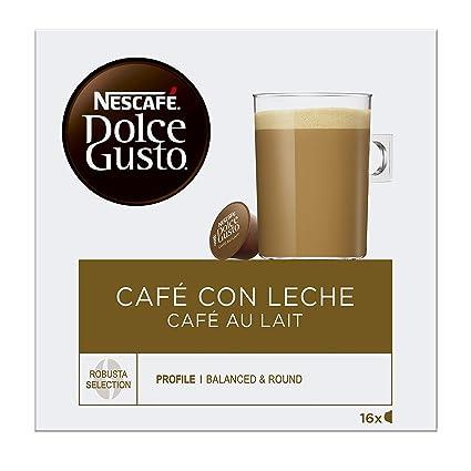 NESCAFÉ Dolce Gusto Café con Leche | Pack de 16 Cápsulas