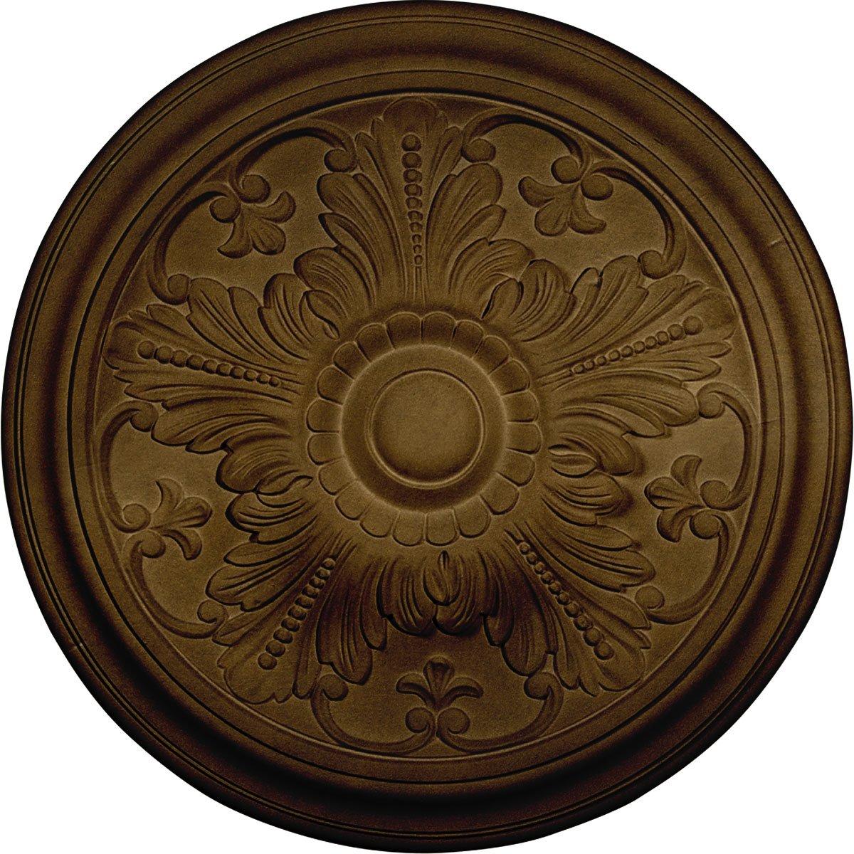 Ekena Millwork CM17VIBRS Vienna Ceiling Medallion, Brass