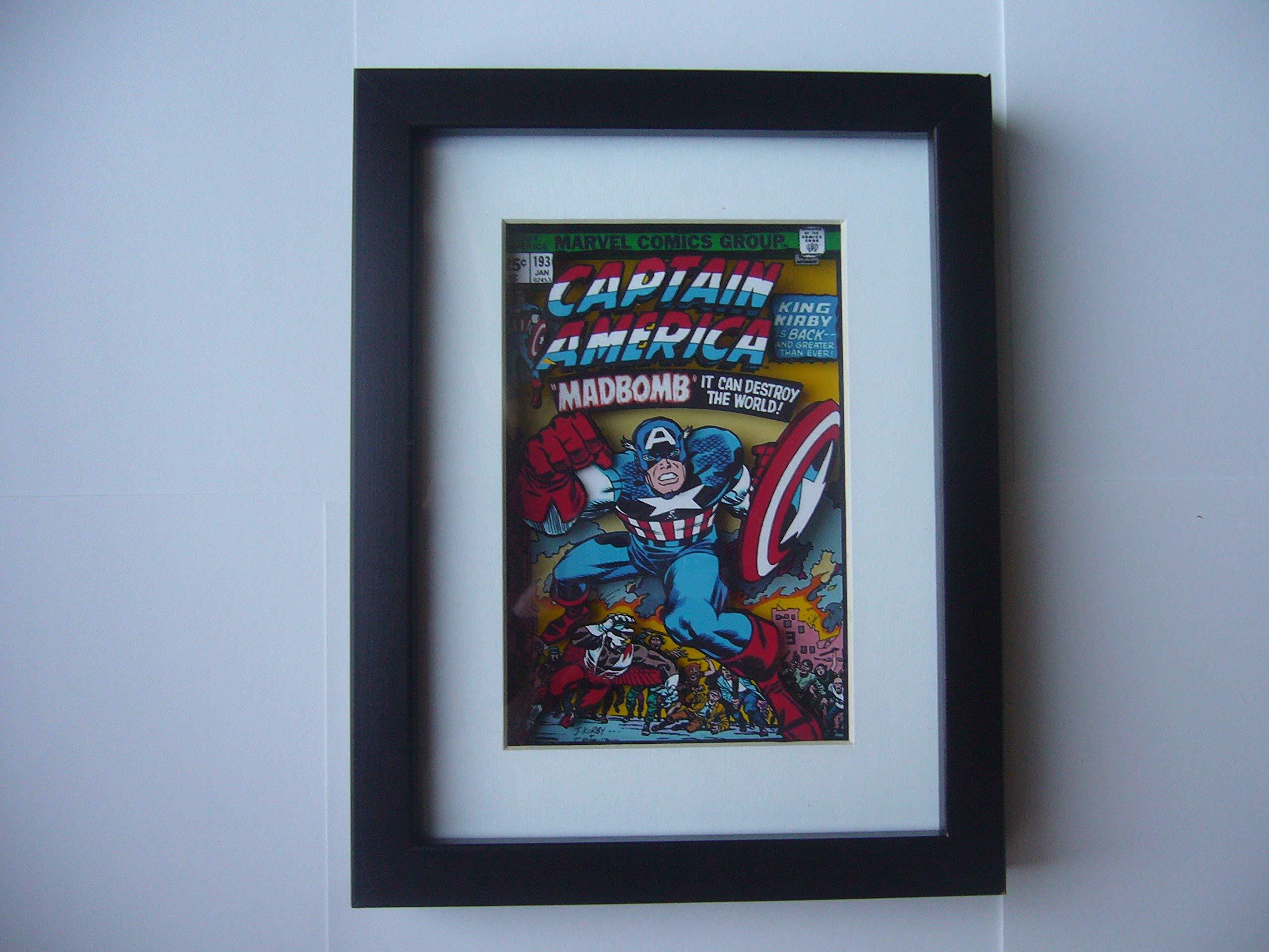 Captain America Comic Book Cover 3D Shadow Box Diorama Art