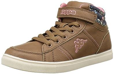 Kappa Barky, Sneakers Hautes Fille, Marron (923 Brown/Pink), 35 EU