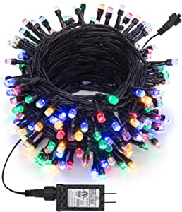 Lomotech Christmas Lights, 66Ft 200 LED String Lights(Upgraded Oversize Lamp Beads), 8 Modes, Timer Function, Connectable Fairy Twinkle Lights for Christmas, Garden, Holiday Decorations(Multicolor)