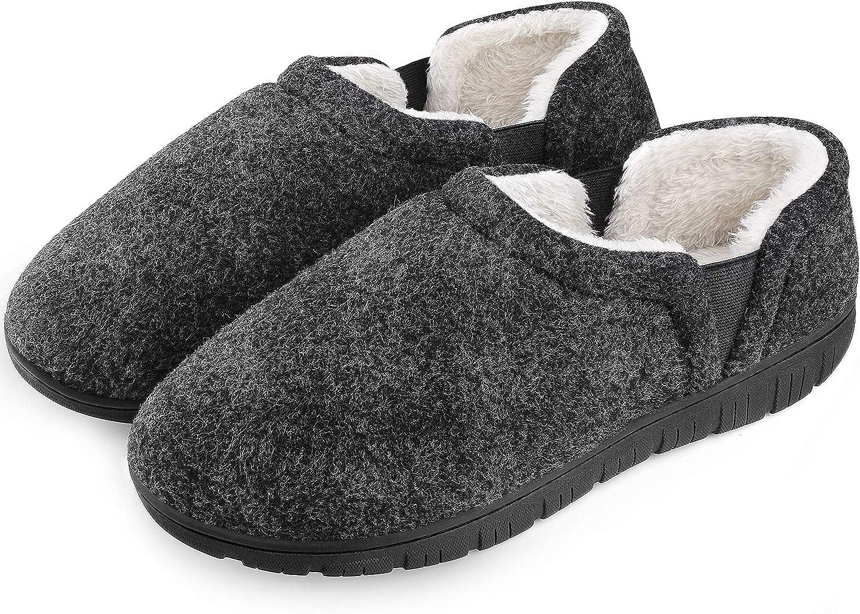 Homitem Mens Slippers Cozy Memory Foam