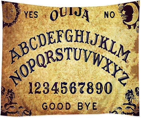 TSlook Hippie Tappassier Tapestry Bohemian Bedspread The Ouija Board Letter Digital 60 x 40