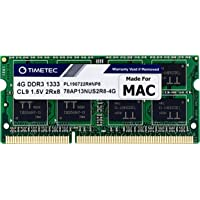 Timetec Hynix IC 4GB Compatible for Apple DDR3 1333MHz PC3-10600 SODIMM Memory for Early/Late 2011 13/15/17 inch MacBook…