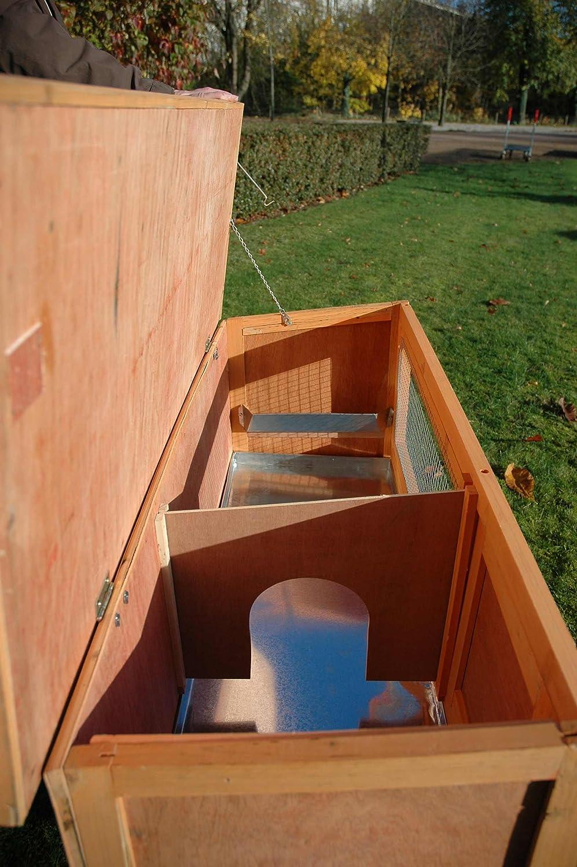 dobar 23306 FSC Tradicional pequeño Animal gallinero con Zinc bañera, silencioso habitación y Techo con Dispositivo de Montaje 115 x 45 x 66 cm: Amazon.es: ...