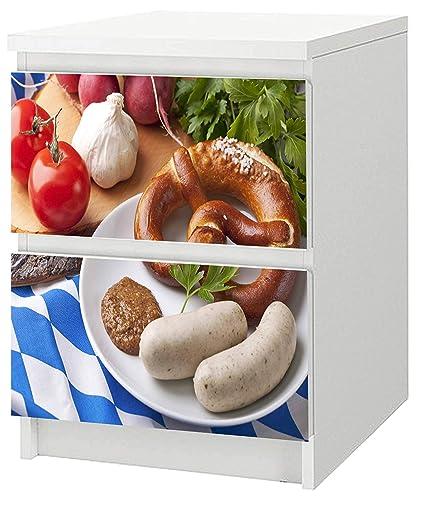 Adhesivo para cómoda de Ikea Malm 40 x 55 cm Bayern: Amazon ...