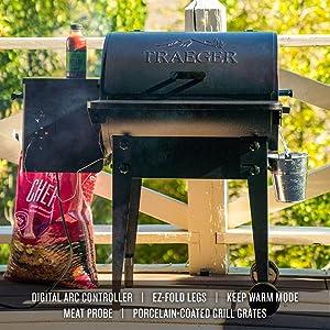 Traeger Pellet Grills TFB30KLF Tailgater 20 Grill