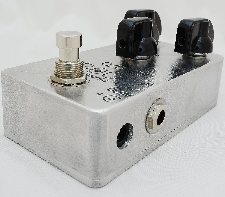 Boo Instruments Tube Screamer Overdrive TS-808 TS-9 TS808 TS9 Effekte-Pedal Verzerrung Standard polished metal