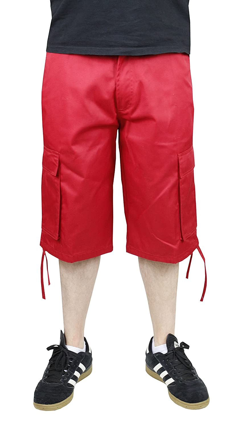 Access Solid Color Big & Tall Cargo Shorts with Belt