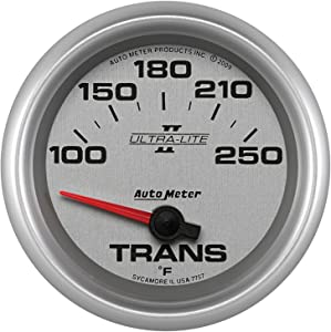 "Auto Meter 7757 Ultra-Lite Pro II 2-5/8"" 100-250 F Short Sweep Electric Transmission Temperature Gauge"