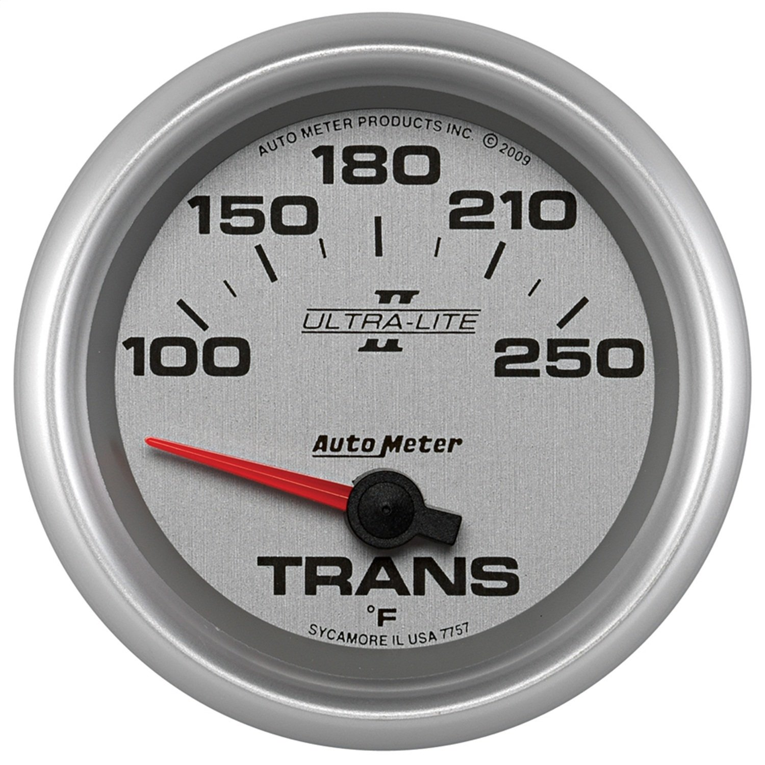 Auto Meter 7757 Ultra-Lite Pro II 2-5/8'' 100-250 F Short Sweep Electric Transmission Temperature Gauge by Auto Meter