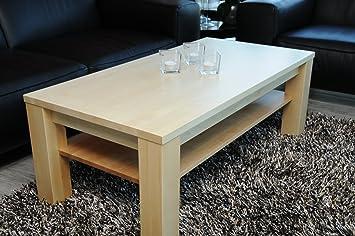Couchtisch Wohnzimmertisch 120x60 Mit Ablage Birke Echtholz Massivholz Hhe 42 Cm