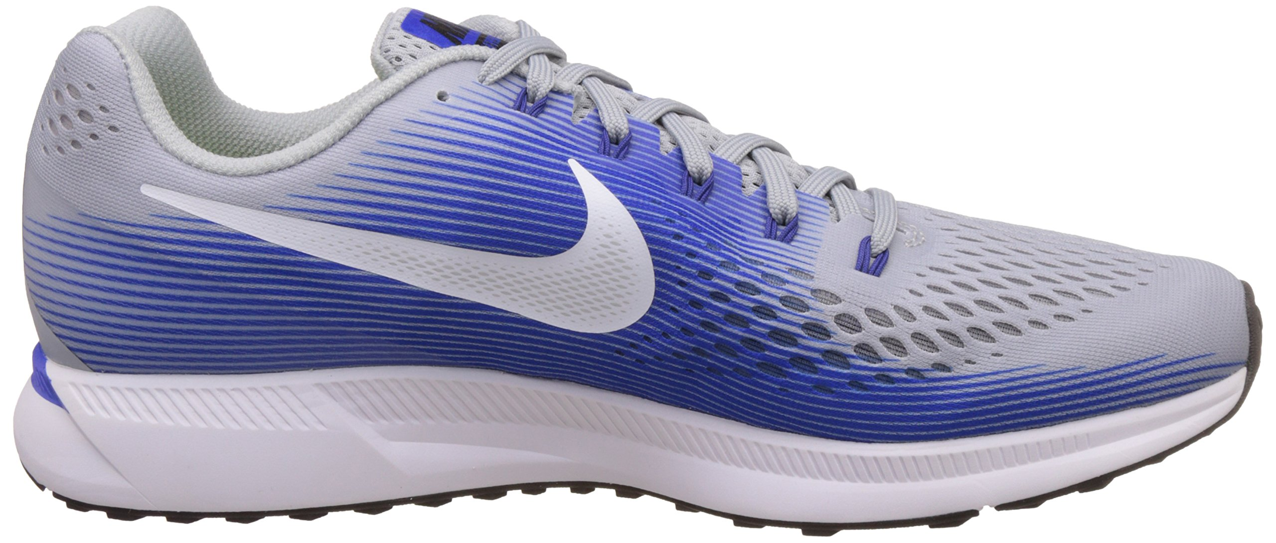 NIKE Mens Air Zoom Pegasus 34 Running Shoe (11 M US, Wolf Grey/White/Racer Blue) by Nike (Image #6)