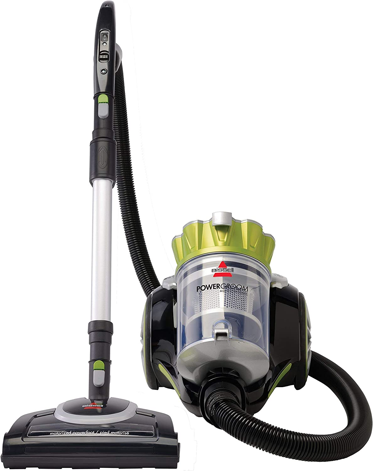 Bissell Powergroom Multicyclonic Bagless Canister Vacuum - Corded (Renewed)