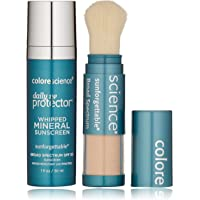 Colorescience Sunscreen Daily UV Essentials, Whipped Mineral Sunscreen and Brush-On Sunscreen Powder