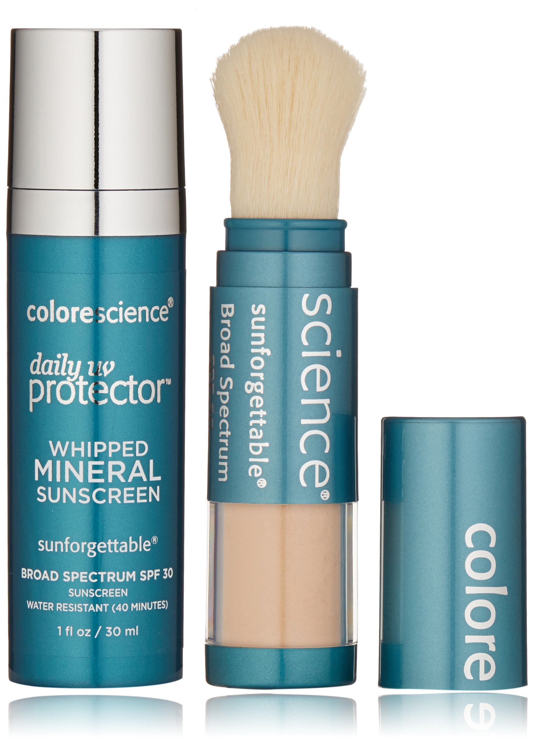 Colorescience Sunscreen Daily UV Essentials - Whipped Mineral Sunscreen and Brush-On Sunscreen Powder by Colorescience