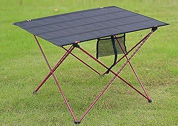 Mesa Plegable de Aluminio Tabla Plegable portátil de Mesa Playa al ...