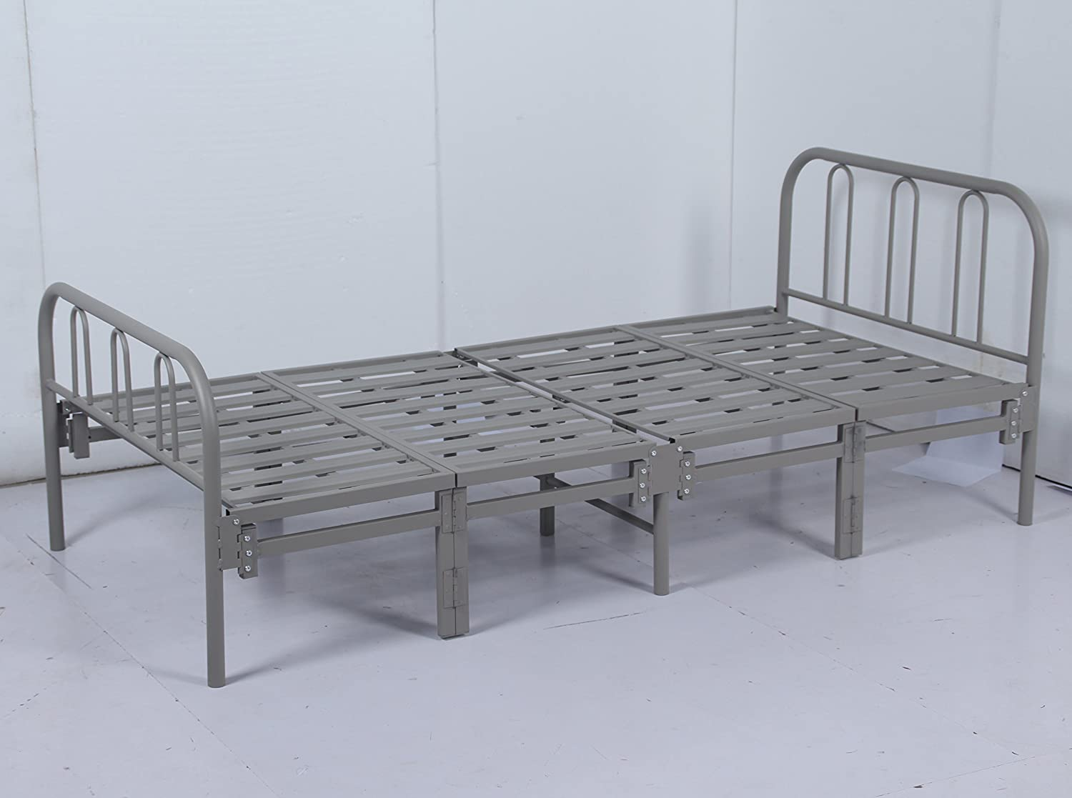 Pleasant Homejoy Prada 3 Ft Contract Heavy Duty Folding Metal Bed Frame In Light Grey Colour Onthecornerstone Fun Painted Chair Ideas Images Onthecornerstoneorg