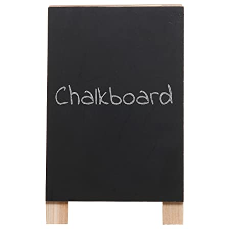 amazoncom 8 inch decorative freestanding tabletop wooden easel chalkboard display sign message board office products
