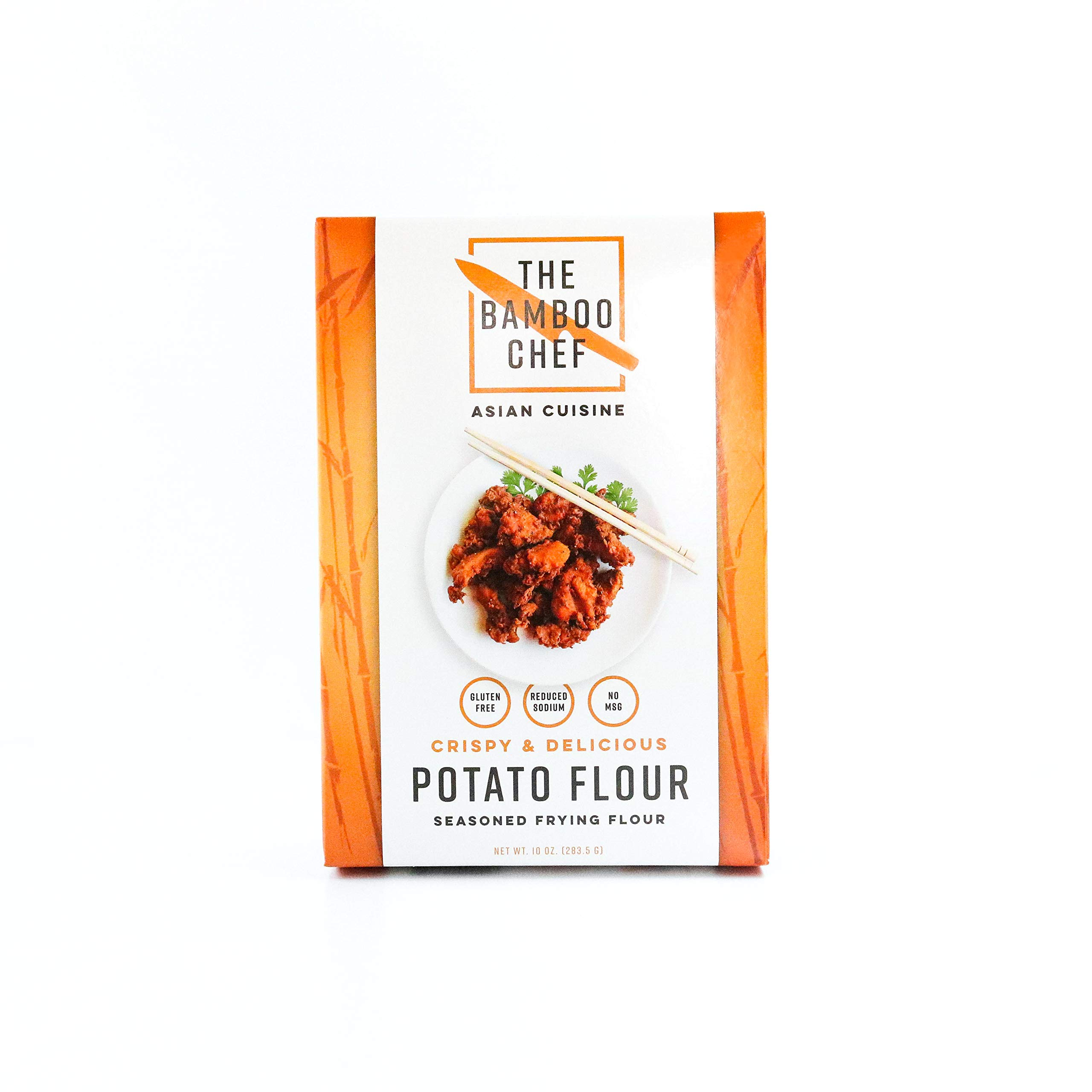 The Bamboo Chef Asian Cuisine Potato Flour Seasoned Frying Flour Gluten Free No MSG (Case of 6) by The Bamboo Chef